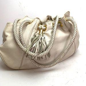 Michael Kors Ivory Pebble Leather Purse Hobo Bag